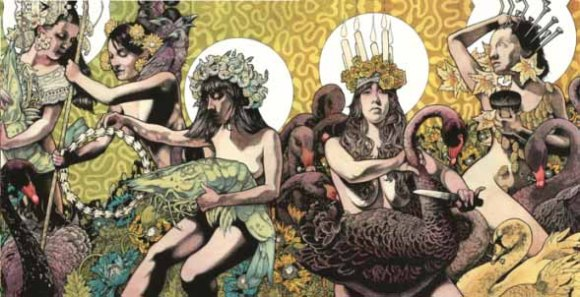 Artwork spread for Yellow and Green by Baroness